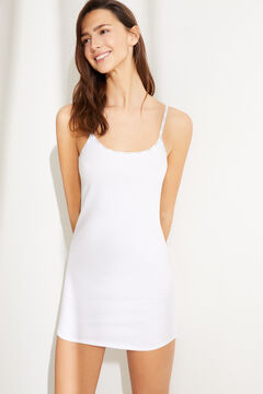 Womensecret White organic cotton nightgown dress white