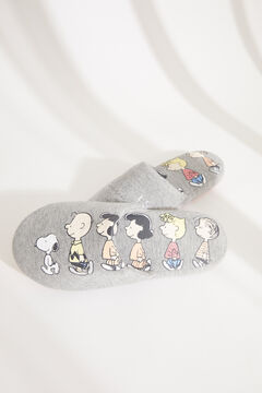 Womensecret Grey Snoopy slingback slippers grey