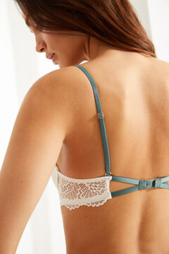 Womensecret GORGEOUS Sujetador push up algodón y encaje blanco blanco