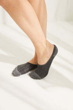 Womensecret Pack of 3 grey no-show socks grey