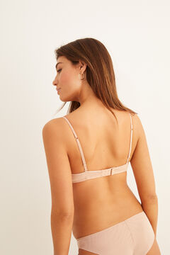 Womensecret Organic cotton triangle bra nude