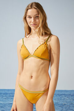 Womensecret Sparkly yellow classic bikini bottoms yellow