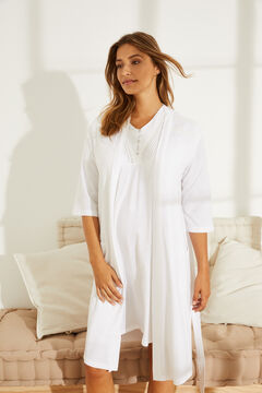 Womensecret Robe de chambre unie maternity blanc
