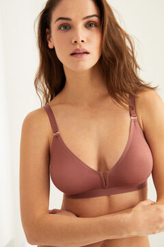 Womensecret Microfibre triangle bra, no padding pink