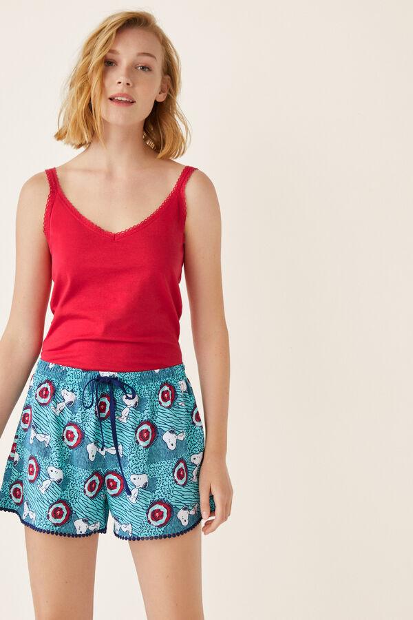 f4ea68a03a Womensecret Pantalón pijama corto Snoopy estampado · Añadir al carrito
