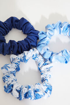 Womensecret 3-Pack blue scrunchies white