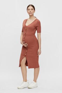 Womensecret Vestido de malha maternity cru