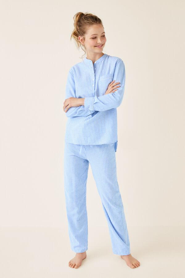 2fe69ec407 Womensecret Pijama largo camisero algodón estampado