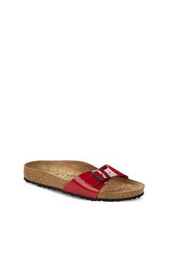Womensecret Cherry red buckle detail sandals burgundy