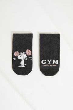 Womensecret Cotton Snoopy short socks grey
