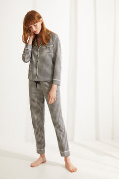 Womensecret Gingham cotton pyjamas white