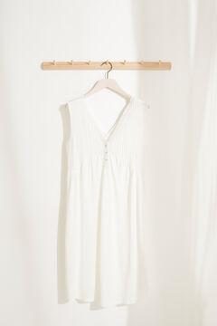 Womensecret White midi V-neck nursing nightgown in super soft jersey-knit white
