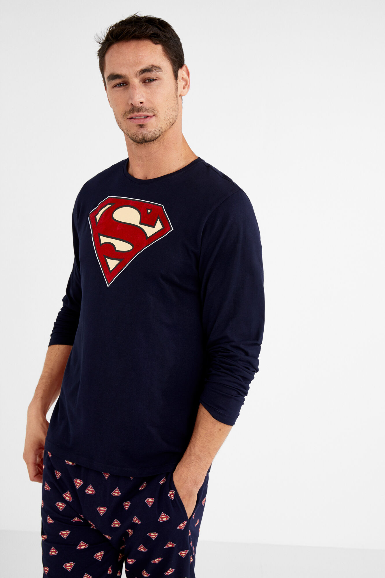 19e60e4b Pijama largo algodón Superman para hombre | Men'secret | Women'secret