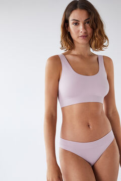 Womensecret lilac seam-free Brazilian panty pink