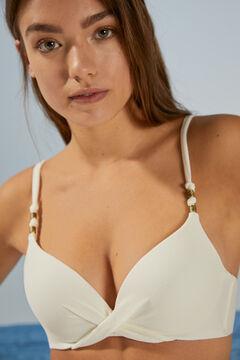 Womensecret White piqué push-up bikini top white