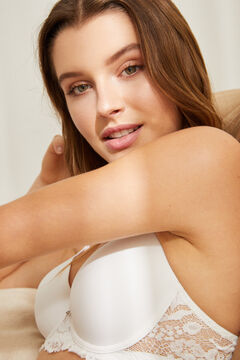 Womensecret BEAUTIFUL Classic white microfibre padded bra white