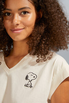 Womensecret T-shirt Snoopy doubles manches beige