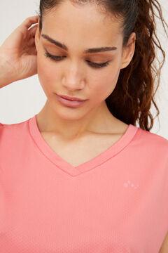 Womensecret Top deportivo manga corta rosa