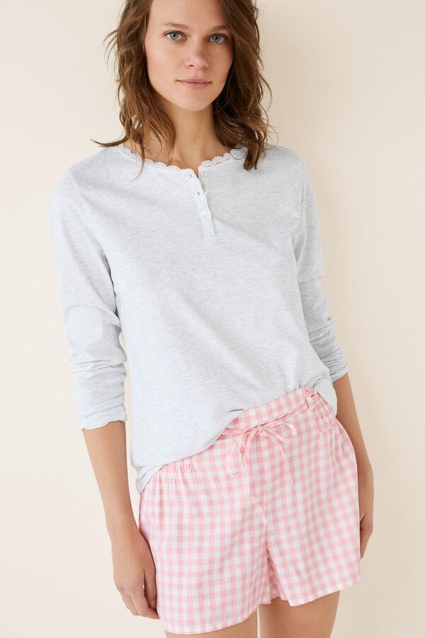 f6b49f96ed Womensecret Pantalón pijama corto cuadros vichy rosa