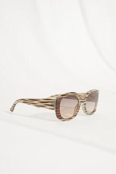 Womensecret Gafas de sol cuadrada y funda cebra blanco