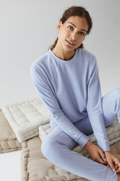 Womensecret Pijama largo rayas azul  azul
