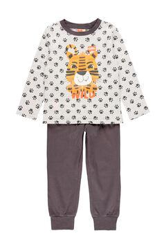 Womensecret Pijama malha para menino - Algodão orgânico cinzento
