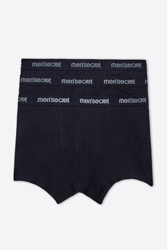Womensecret Pack 3 boxers for man Schwarz