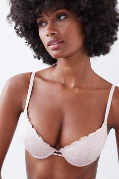Womensecret GORGEOUS Pink lace push-up bra pink