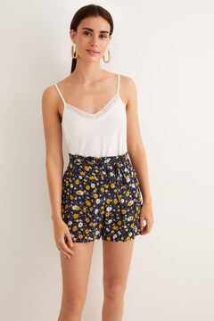 Womensecret Printed pyjama shorts blue
