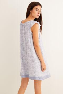 Womensecret Border print nightgown blue