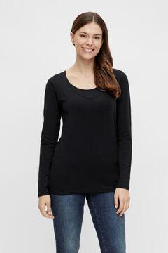 Womensecret Pack camisetas manga larga maternity negro