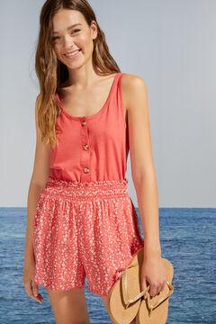 Womensecret Red floral print pyjama shorts printed