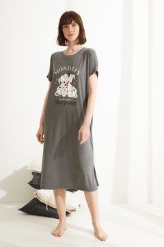 Womensecret Grey 101 Dalmatians midi nightgown grey