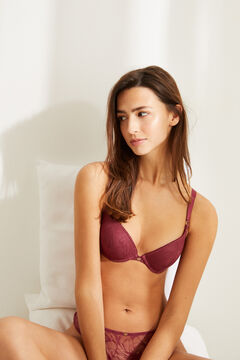 Womensecret GORGEOUS Sujetador push up detalle encaje rosa rosa
