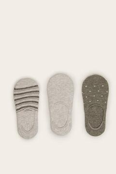 Womensecret Pack 3 meias invisível cinzento