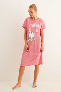 Womensecret Short-sleeved Miffy nightgown pink