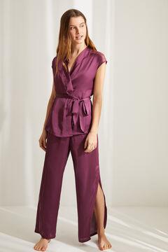 Womensecret Aubergine satin pyjama set pink