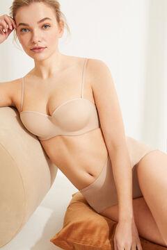 Womensecret Strapless push up bra nude