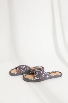 Womensecret Blue printed slippers blue