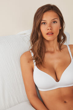Womensecret Organic cotton triangle bra white