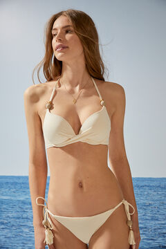 Womensecret Haut bikini dos nu super push-up beige beige