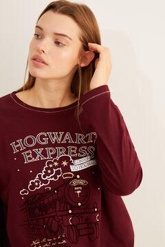 Womensecret Pijama comprido Hogwarts Express grená impressão