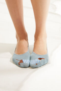 Womensecret Pack de 3 calcetines invisibles estampados estampado