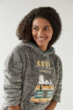 Womensecret Pijama comprido cinzento polar Snoopy cinzento