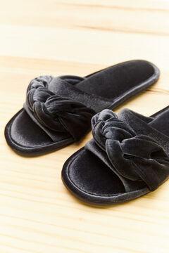 Womensecret Blue woven slider slippers blue