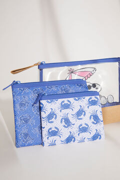 Womensecret 3-pack blue Snoopy crab vanity cases blue