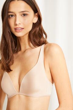 Womensecret Multiway triangle bra nude