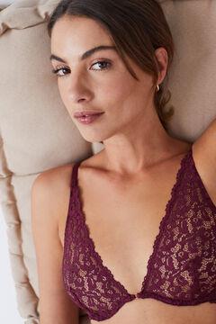 Womensecret PRETTY Maroon bra, no padding printed