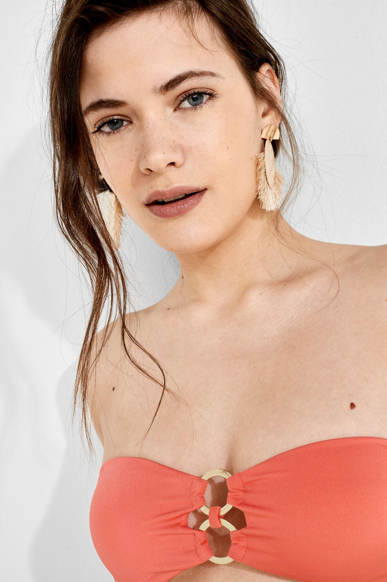 8fe8a0f75 Bandeau bikini top with rings