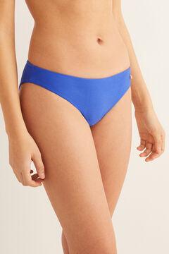 Womensecret Culotte bikini nouage arrière bleu